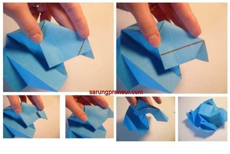 video membuat origami bunga mawar cara membuat origami bunga mawar sarungpreneur