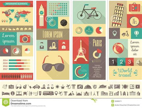 Travel Infographic Template Stock Vector Image 35689571 Travel Infographic Template