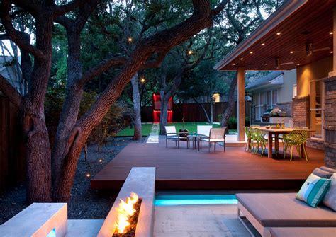 fire pit ideas patio landscape contemporary  backyard