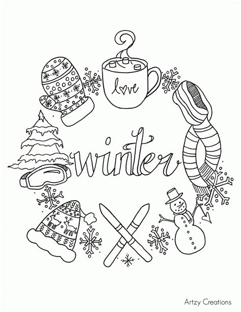 printable winter images free printable coloring pages of winter scenes coloring home