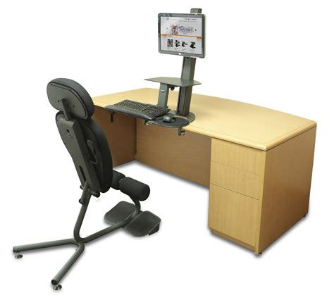 Sit And Stand Computer Desk Stance Angle Chair Ergonomic Standing Chair Healthpostures