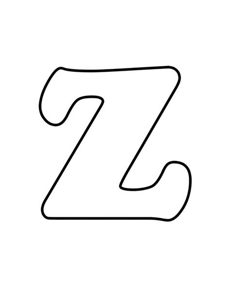Printable Z Coloring Pages free coloring pages