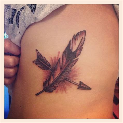 arrow with feather tattoo 1000 images about piercings tattoos on