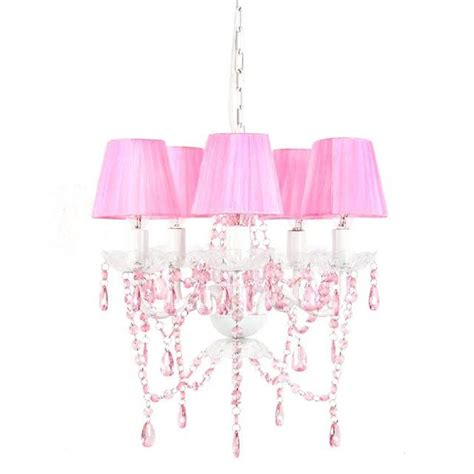 Pink Chandelier Shades Tadpoles 5 Light Pink Sapphire Chandelier Shade Cch5sh004 The Home Depot