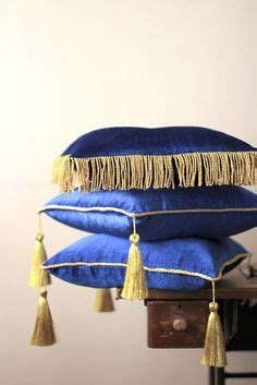 Royal Velvet Optic Floor L by Cushion Cover In Cotton Velvet With Tassels At Corners H