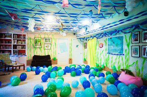themed birthday party rooms over the top under the sea party decor ocean party