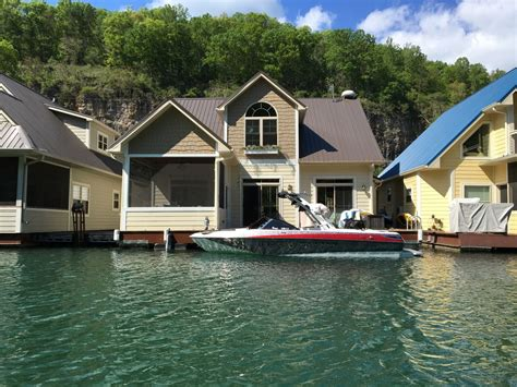 Floating Cabins In Tennessee by Beautiful Norris Lake Floating House Property Vrbo