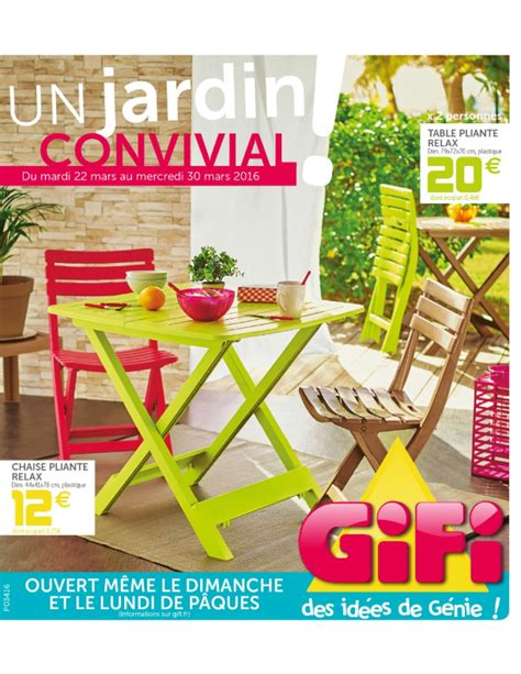 Gifi Table De Jardin 3761 by Gifi Un Jardin Convivial Cataloguespromo