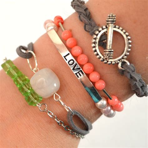 make bracelets easy diy stacking bracelets crocheted leather cord