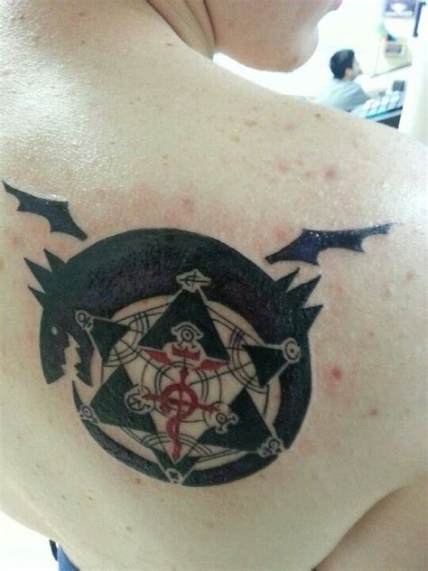 fma tattoo design enhanced ouroboros fullmetal alchemist