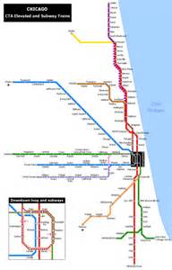 Chicago Blue Line Map by Chicago Blue Line Train Map