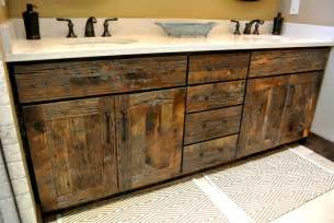 stylish reclaimed wood bathroom vanity home design