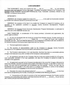 financial loan agreement template doc 600550 financial loan agreement template sle