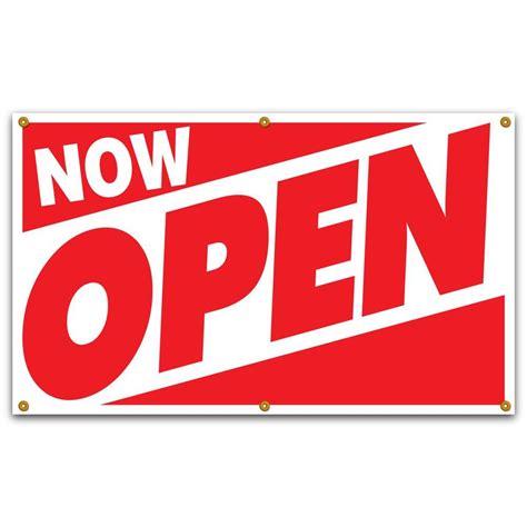 lynch sign 5 ft x 3 ft on white vinyl now open
