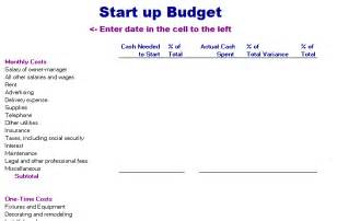 business start up budget template start up budget template free layout format