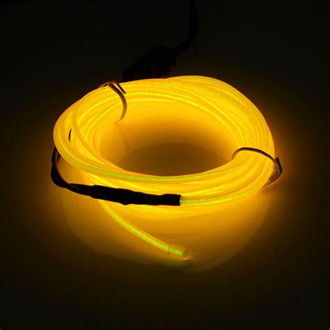 Lu Led Alis Flexibel Fleksibel flexibel el draht led neonlicht rohr 2m 3v strobing elektrolumineszierend seil ebay