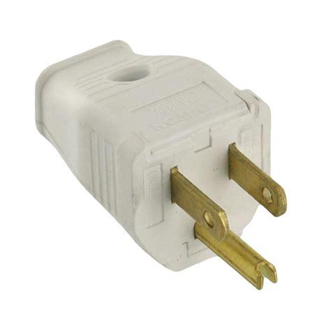 3 wire plugs leviton 15 125 volt 3 wire grounding white 3w101