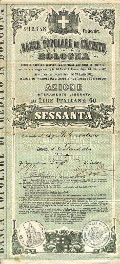 Banca Popolare Di A Bologna banca popolare di credito in bologna titolo finanziario