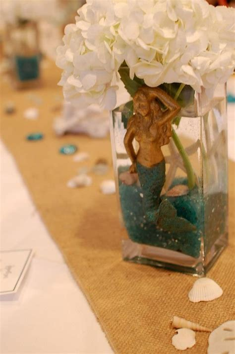 mermaid centerpiece little mermaid adult party pinterest