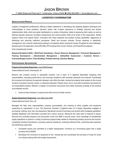 supply chain specialist resume objective 28 images