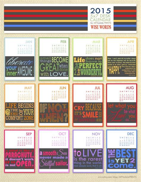 printable quotes calendar 2015 an inspirational quote for every month i think i ll print