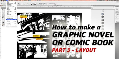 How To Make A Comic Book Out Of Paper - how to make a graphic novel comic book part 3 layout