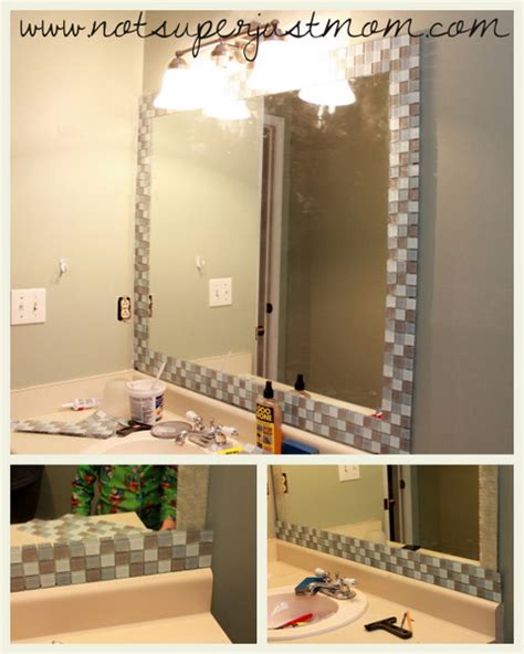 mirror borders bathroom do it herself how to mosaic tile a mirror caffeine and