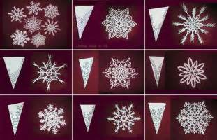 Paper Snowflakes Patterns - how to cut and create beautiful paper snowflakes diy