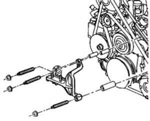 1998 Buick Lesabre Belt Diagram 1998 Buick Lesabre A Serpentine Belt Motor Mount