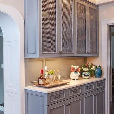 wire mesh inset cabinet doors design ideas