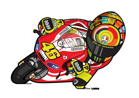gambar kartun motogp valentino bintom juni 2017