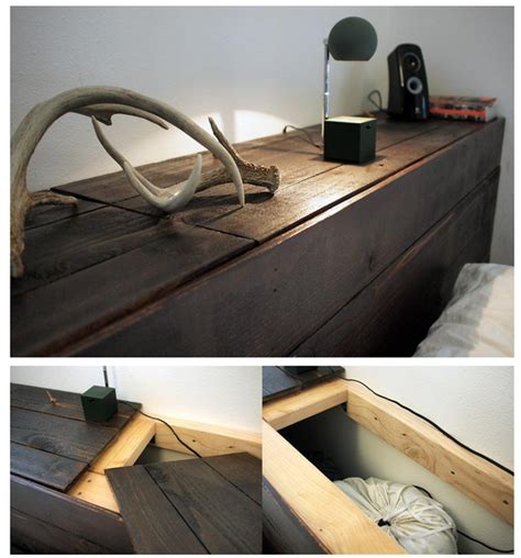 hidden storage headboard weekend project how to build a rustic headboard with