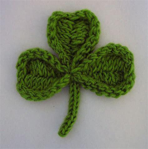 st st knitting shamrock knitting pattern a knitting