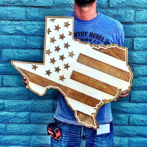 texas american flag  tone wood wall art american flag