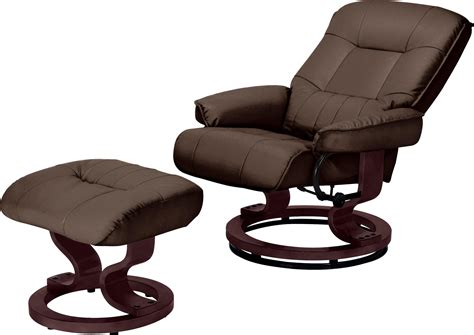 santos recliner chair and footstool santos leather effect recliner chair footstool chocolate