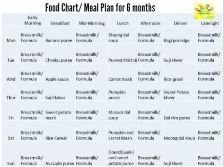 table food for babies 6 months 6 month baby food chart cb food charts