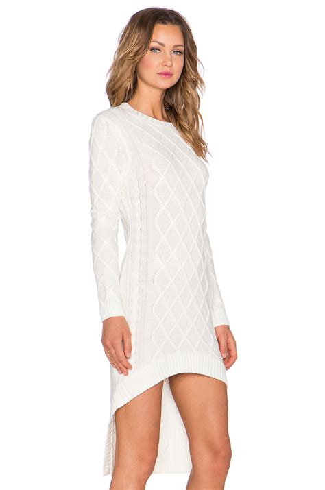 Lq 02 Ress Sweater Yiyo White lyst elliatt realm knit dress in white