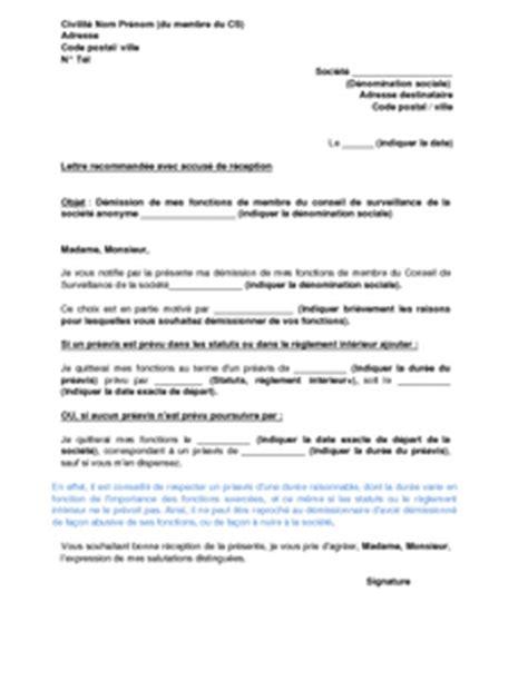 Modèle Lettre De Démission Négative Exemple De Lettre De Demission D Une Association Loi 1901 Covering Letter Exle