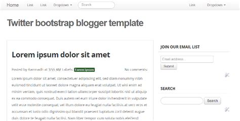 templates bootstrap basic bootstrap blogger templates