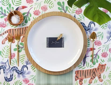 Baby Shower Place Setting Ideas by Tropical Jungle Baby Shower Baby Shower Ideas Themes
