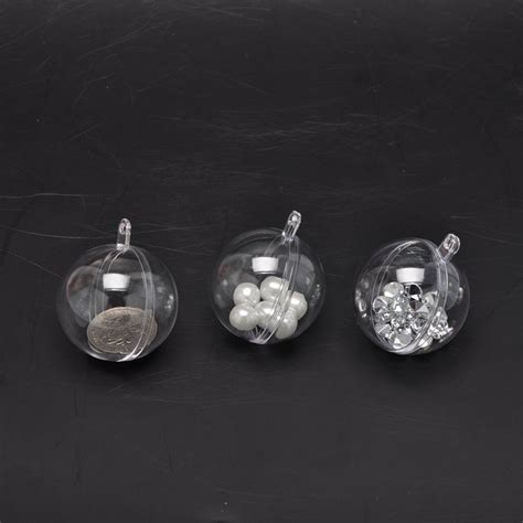10pcs christmas decoration clear plastic balls transparent