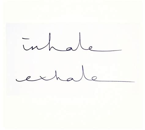 yoga tattoo fonts inhale exhale inspiration