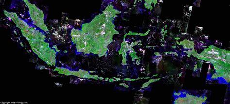indonesia map  satellite image