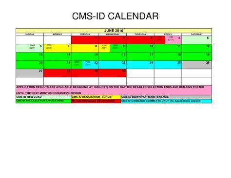 Cms Calendar 2010 Cms Id Schedule Calendar Style