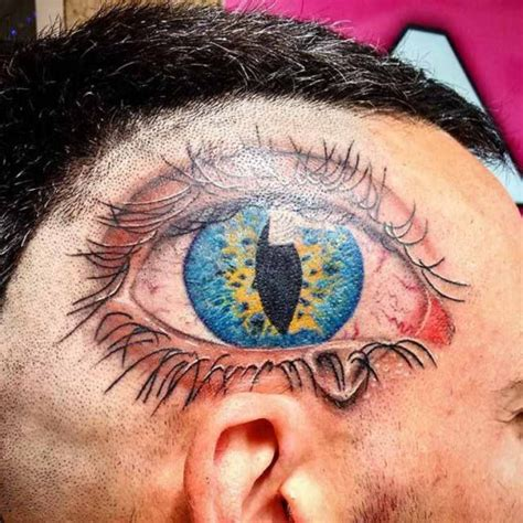 eyeball tattoo on back of head eye tattoo on head best tattoo ideas gallery