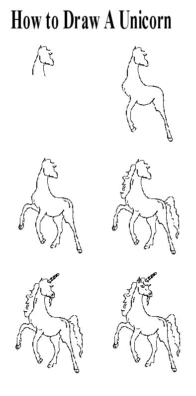 How To Draw A Easy How To Draw A Unicorn Step By Step Easy Pencil Drawing