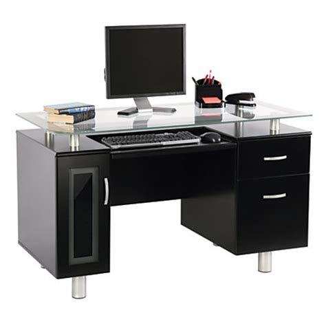 Office Depot Black Desk Realspace Sutton Executive Desk Black By Office Depot Officemax