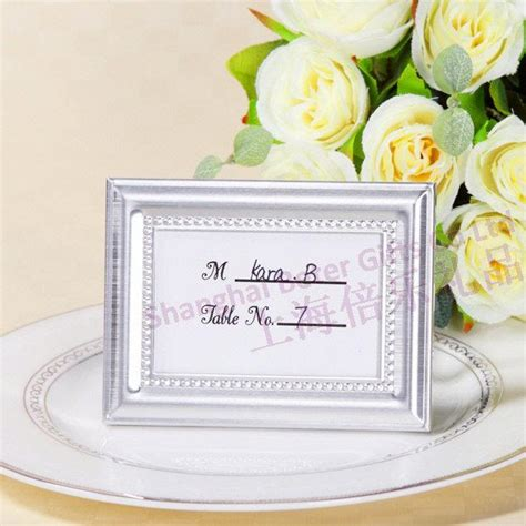 place card for wedding reception beaded photo frame and place card holder wedding reception