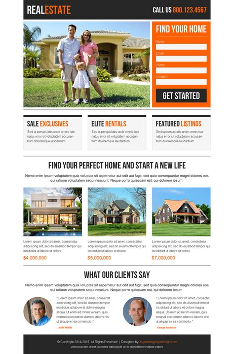 Best Converting Real Estate Landing Pages For Agents Best Real Estate Landing Page Templates