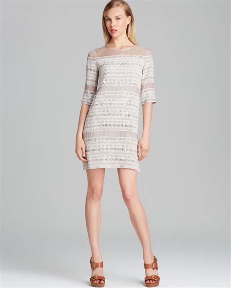 Dress Vita Merah 1 dolce vita dress akasma embroidery in gray chagne lyst